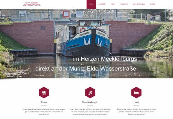 Webseite für Gaststätten und Hotels