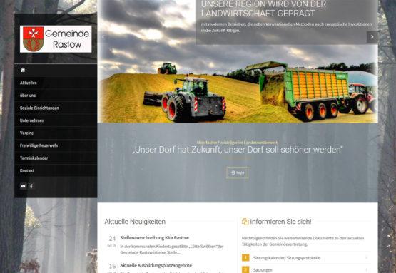 Webseite für öffentliche Einrichtungen