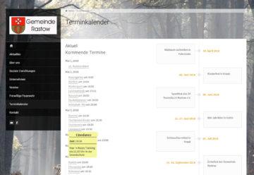 Webdesign mit Terminübersicht