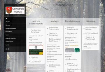 Webdesign für eine Gemeinde mit vielen kleinen Unternehmen
